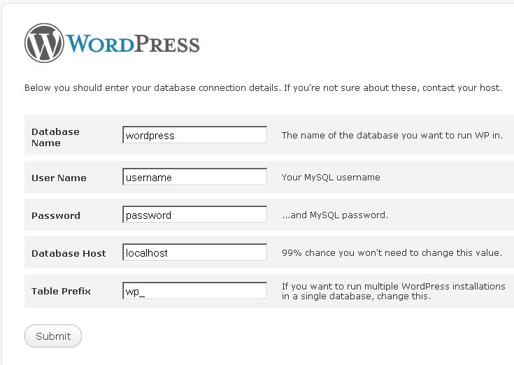 Instalace WordPressu